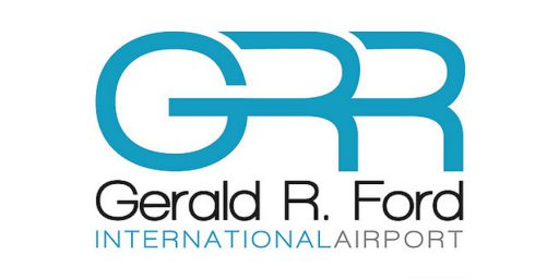 logo for gerald r ford international airport