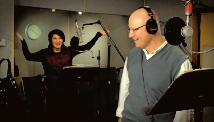 paul and elizebeth doing a very animated radio commercial for OSS orthopedic urgent care